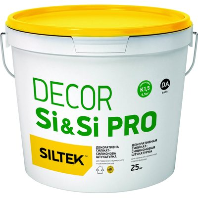 Силикат-Силиконовая декоративная штукатурка Siltek Decor SI & SI Pro