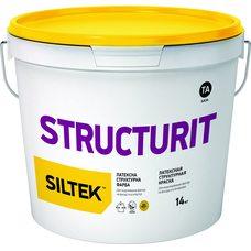 Краска латексная структурная Siltek Structurit, 14кг