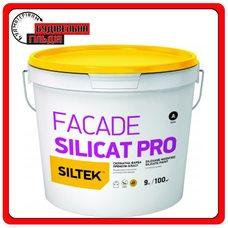 Краска силикатный премиум-класса Siltek Facade Silicat Pro База FА, 9л