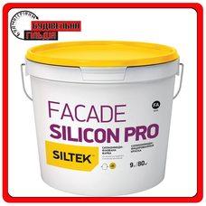 Краска силикон модифицированная премиум-класса Siltek Facade Silicon Pro База А, 9л