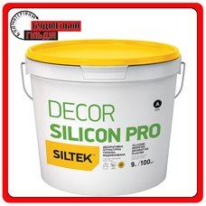 Штукатурка декоративная силиконовая, камешковой 1,5 мм, Siltek Decor Silicon Pro, 25кг