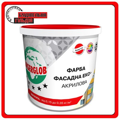 Краска фасадная ЭКО + акриловая Anserglob, 14кг