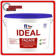 FTP Ideal Facade атмосферостойкая латексная краска для фасада и интерьера, 10 л