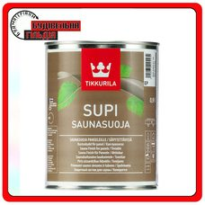 """Акрилатный защитный состав Supi Saunasuoja (Супи Саунасуоя), базис """"ЕР"""", 0,9 л"""