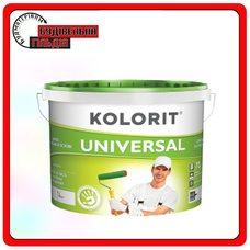 Глубокоматова фарба Kolorit UNIVERSAL, колір білий, 10 л