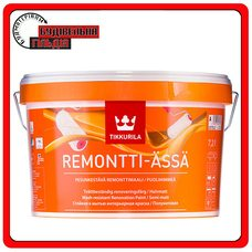 """Полуматовая латексная акрилатная краска Remontti Assa (Ремонти-Ясся), базис """"A"""", 9 л"""