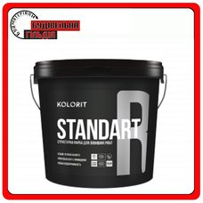 "Водно-дисперсійна фарба Standart R (Facade Relief), базис ""LAP"", 9л"