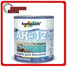 Краска для бассейнов АК-12, Голубая, 10 л