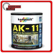 Краска для бетонных полов АК-11, Белая, 10 л