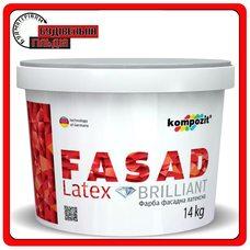Фарба фасадна латексна FACADE LATEX, 14 кг