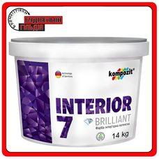 Краска интерьерная латексная INTERIOR 7, 14 кг