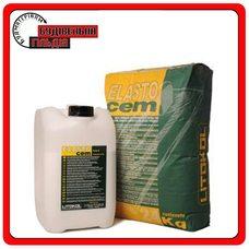 Цементная двухкомпонентная гидроизоляция Elastocem (A+B), 24 кг