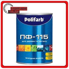 Алкідна емаль Polifarb ПФ-115 Біла, 2,7 кг