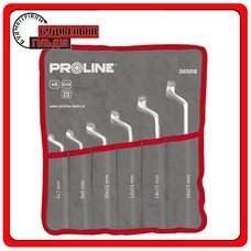 Proline Набор накидных ключей 6 предметов, 6х7 - 16х17 мм