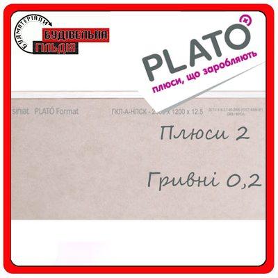 Гипсокартон PLATO Format 2.5х1.2 (12.5мм) -шт + подарок Плато Филлер Шпаклевка для стыков лгк 5 кг от 20 листов