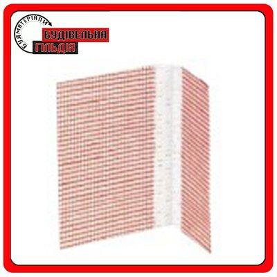 Угловой пластиковый защитный профиль с сеткой 10x15mm