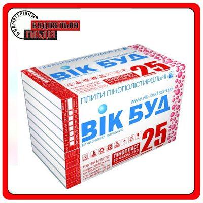 ВИК БУД 1000х500x50 мм Пенопласт 25 ФАСАД-ЭКО стандарт, 12 кг/м3